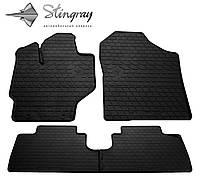 Ковры автомобильные Тойота Ярис 2013- Комплект из 4-х ковриков Черный в салон