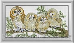 Алмазная вышивка Dream Art Семья сов (DA-30546) 25 х 48 см