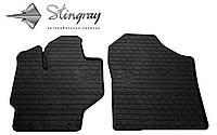 Коврики резиновые в салон Тойота Ярис 2013- Комплект из 2-х ковриков Черный в салон