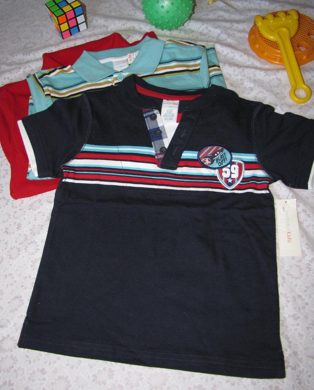 Футболка поло Wonder Kids оригинал рост 104 см темно синяя 07125
