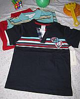 Футболка поло Wonder Kids оригинал рост 104 см темно синяя 07125, фото 1