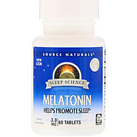 Source Naturals, Мелатонин, 3 мг, 60 таблеток