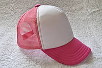 Кепка базовая розовая с белым, фото 1