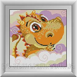 Картина из страз Dream Art Дракоша (DA-30604) 33 х 33 см (Без подрамника)