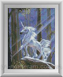 Алмазная вышивка Dream Art Единорог в лесу (DA-30621) 38 х 49 см (Без подрамника)