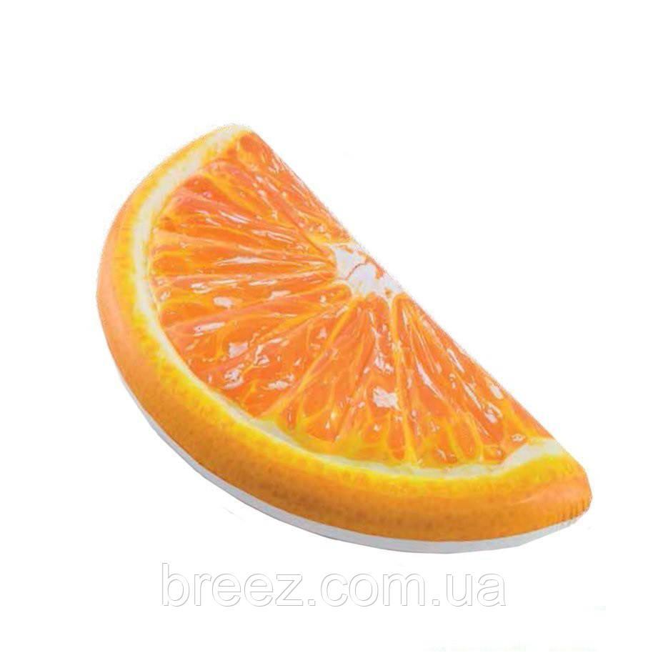 Надувной пляжный матрас Intex Долька Апельсина оранжевый 178 х 85 см