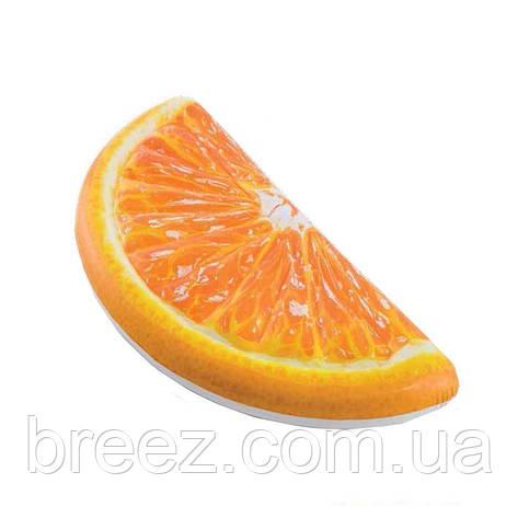 Надувной пляжный матрас Intex Долька Апельсина оранжевый 178 х 85 см, фото 2