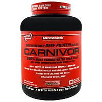 MuscleMeds, Carnivor, биоинженерный изолят говяжьего протеина, шоколад, 4,5 фунта (2,038.4 кг)