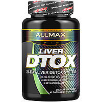 ALLMAX Nutrition, Liver Dtox with Extra Strength Silymarin (Milk Thistle) and Tumeric (95% Curcumin), 42 Capsules
