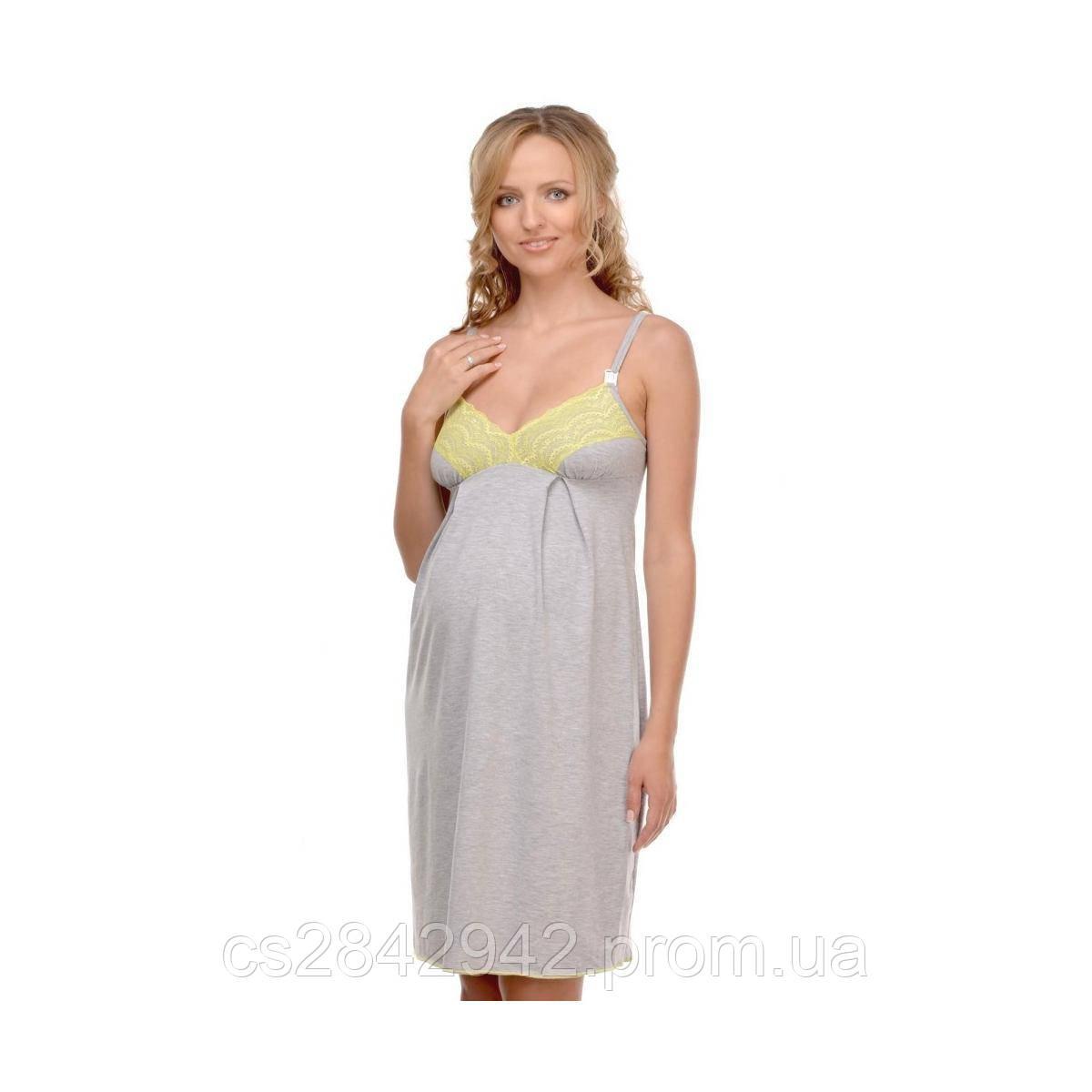 Нічна сорочка для вагітних і годуючих (ночная сорочка для беременных и кормящих) Меланж