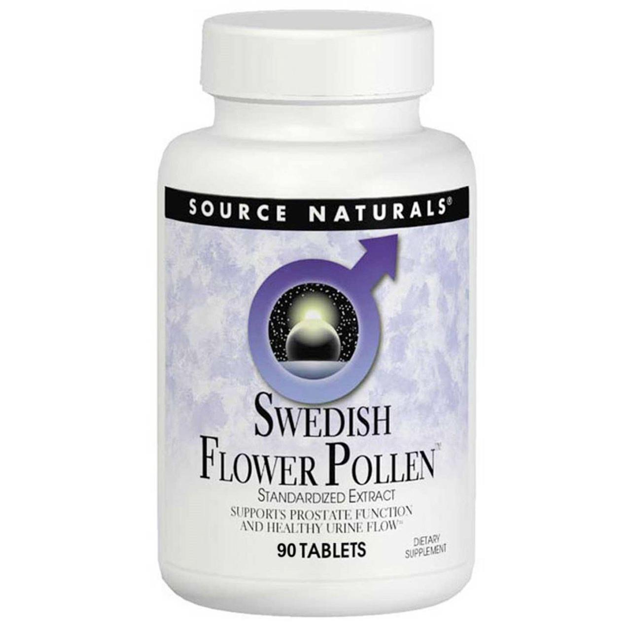 Source Naturals, Пыльца шведских цветов, 90 таблеток