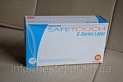 Перчатки латексные опудренные размер M, MEDICOM SAFE TOUCH (Медиком Сейф Тач) 100 шт. Белый