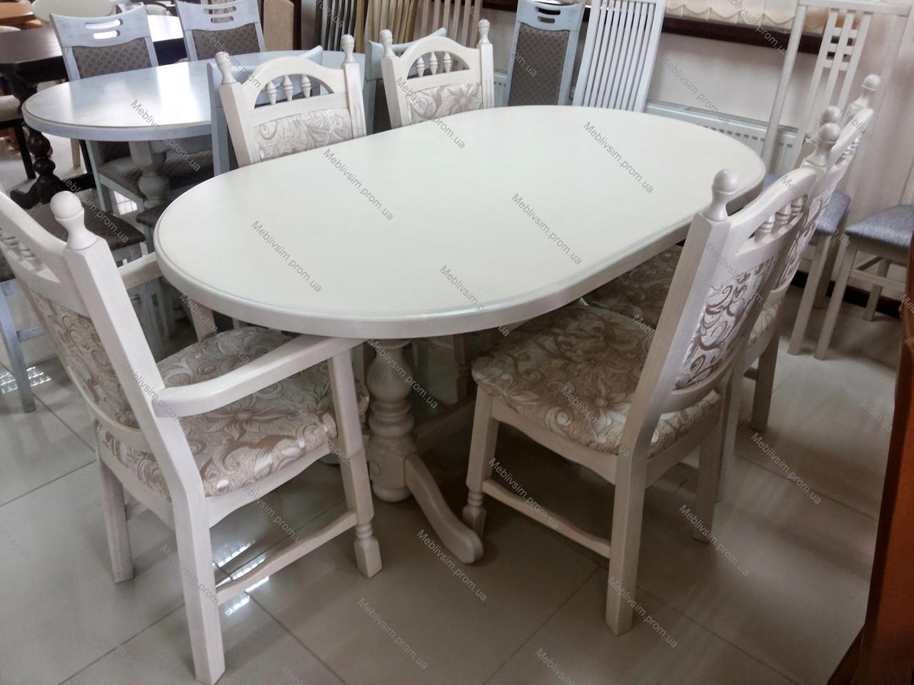 Стол кухонный овальный Гирне 4 GOOD WOOD Рускополянский Мебельный Комбинат Явир