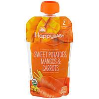 Nurture Inc. (Happy Baby), Детское питание органического происхождения, Сладкий картофель, манго и морковь, стадия 2, для детей от 6 месяцев, 4 унции