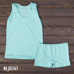 Домашний комплект для девочки: майка и шорты Majestic Турция MJ030