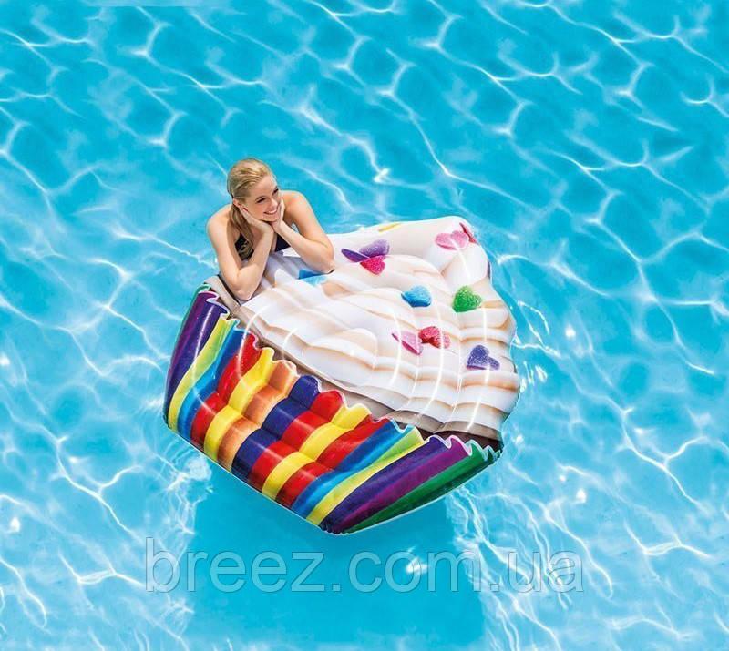 Надувной пляжный матрас Intex  Кекс 142 х 135 см
