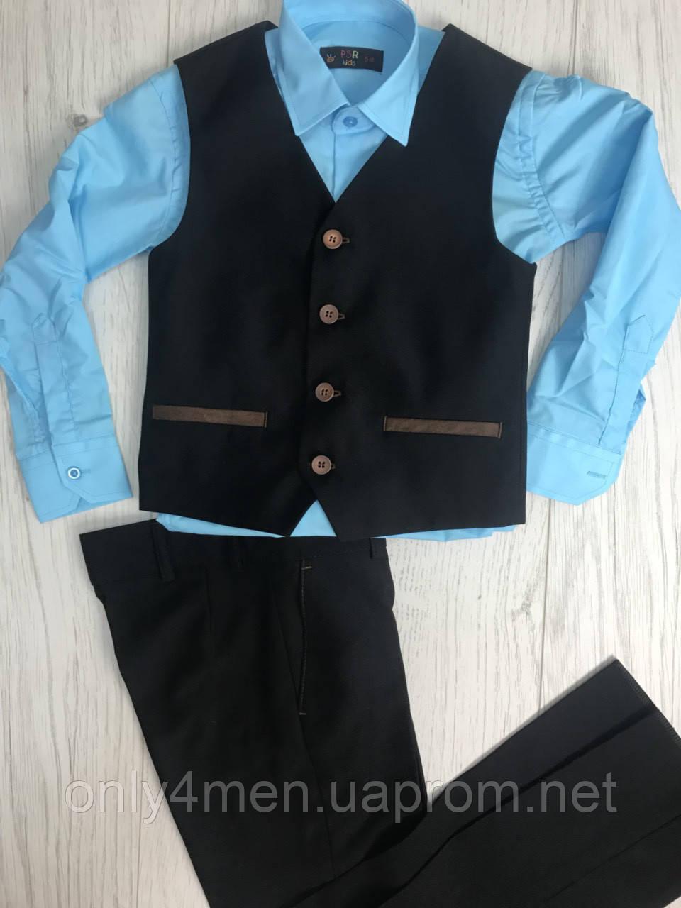 Классический костюм для мальчиков,черный 116-140см
