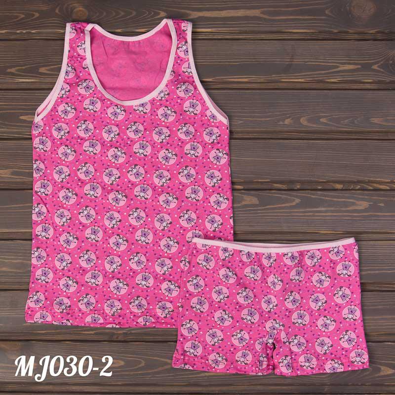 """Детские шорты и майка """"Веселая девочка"""" Majestic Турция MJ030-2"""