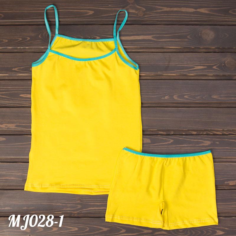 Яркий комплект детский девичий: майка и шорты Majestic Турция MJ028-1