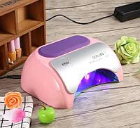 Лампа Гибридная 48 Ватт CCFL + LED  для маникюра 48w розовая