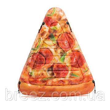 Надувний пліт-матрац Intex Піца жовтий 175 х 145 см, фото 2
