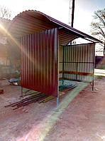 Автобусная остановка металлическая 4х метровая