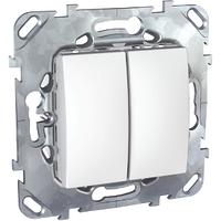 Выключатель кнопочный 2-й Белый Unica Schneider, MGU5.211.18ZD