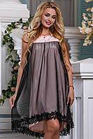 Легкое воздушное летнее платье,софт+сетка.