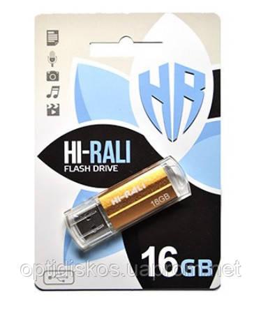 Флешка Hi-Rali 16GB Corsair series, золотистая