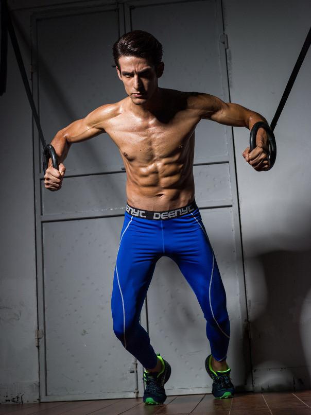 Мужские зауженные спортивные штаны Deenyt - №3514