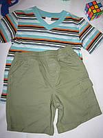 Костюм футболка и шорты Wonder Kids оригинал рост 104 см зеленый+хаки 07129, фото 1