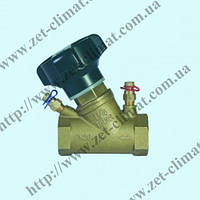 Вентиль балансировочный латунный муфтовый Ду15 - Ду 50 (Py 2,5 МПа)