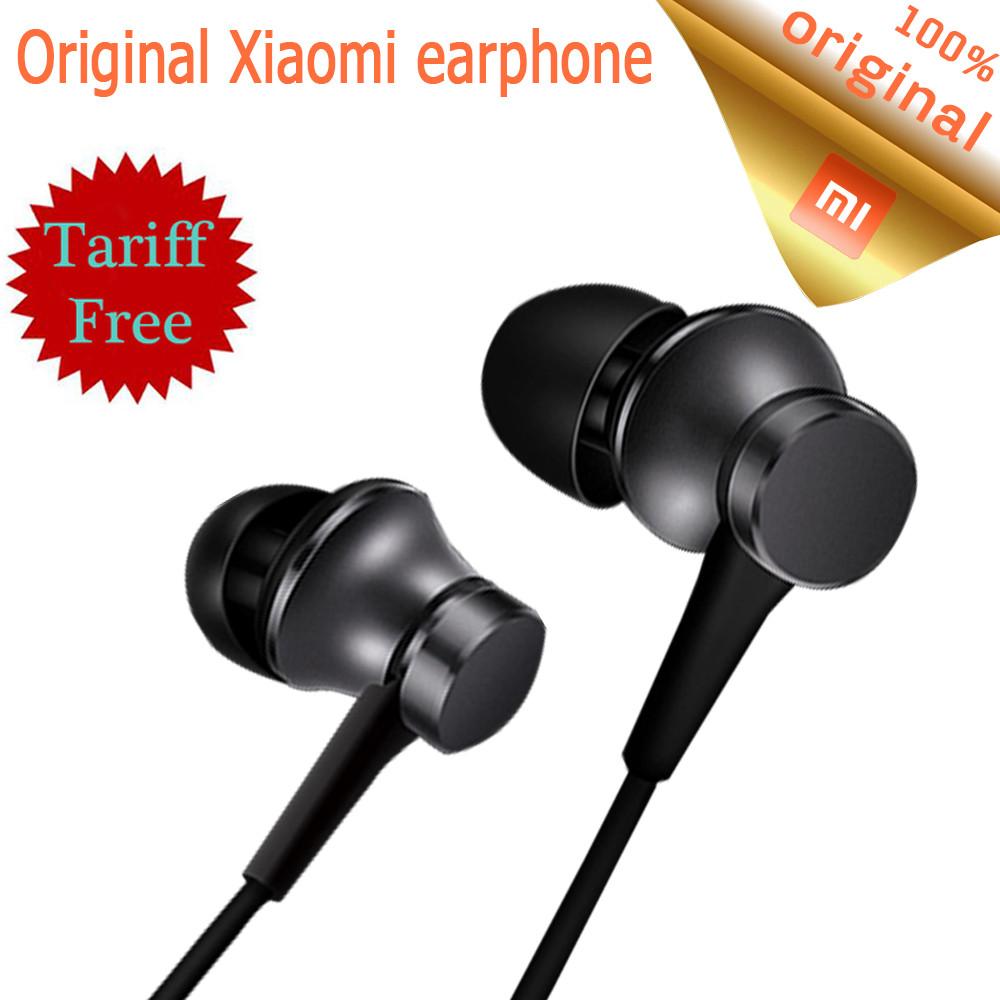 Наушники гарнитура Xiaomi Piston fresh version black с микрофоном