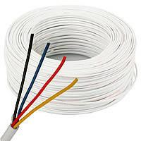 Сигнальный кабель 4 * 0.22 mm UTP, неэкранированный, медный, белый, 100м