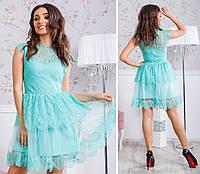 Замечательное нарядное платье в мятном цвете