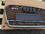 Решетка радиатора RS7 Quattro на Audi A7 (2015-...), фото 2