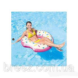 Надувной круг для плавания Пончик Intex 107 х 99 см