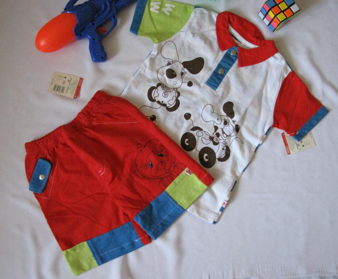 Костюм футболка и шорты Fisher Price рост 104 см белый+красный 07130