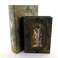 Шкатулка книга статуи в шелке