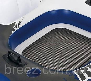Надувной кресло-круг для плавания Intex River Run 130 х 126 см со спинкой, держателями для рук и подголовник, фото 2