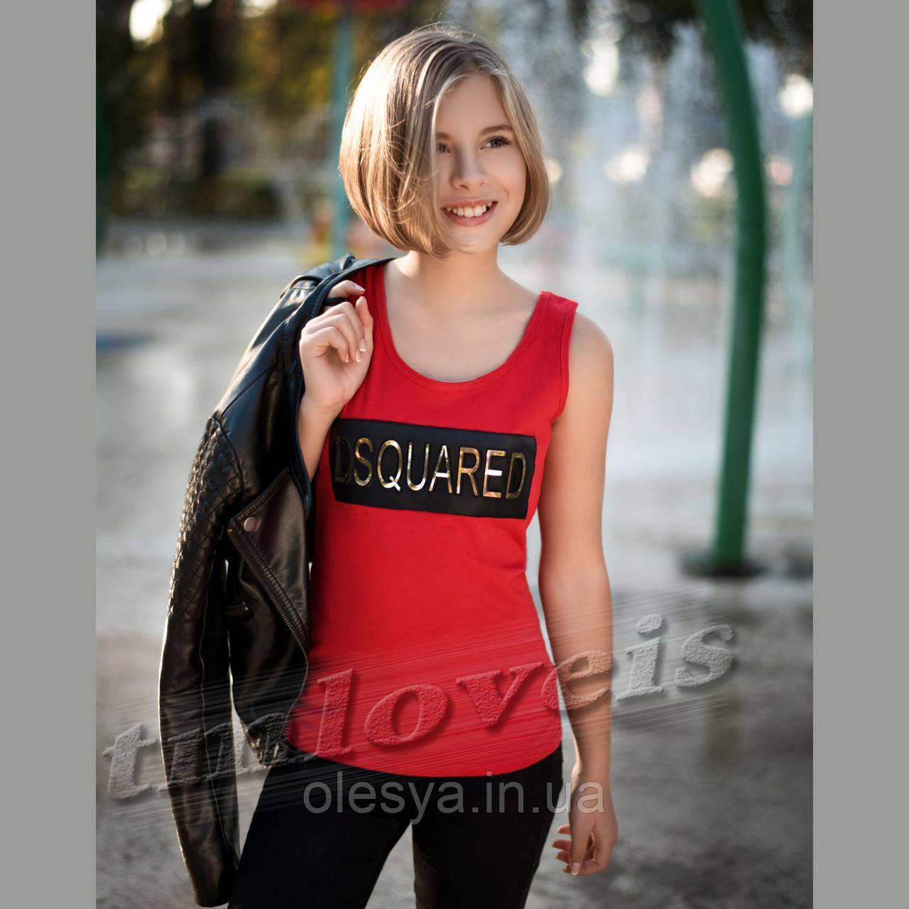 Подростковая Майка для девочки Dsquared красная