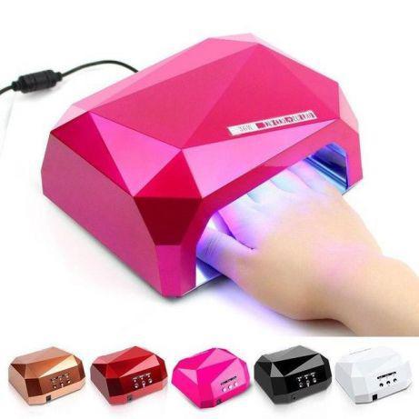 Лампа гибридная для маникюра и педикюра Diamond 36W, уфо лампа для наращивания ногтей,