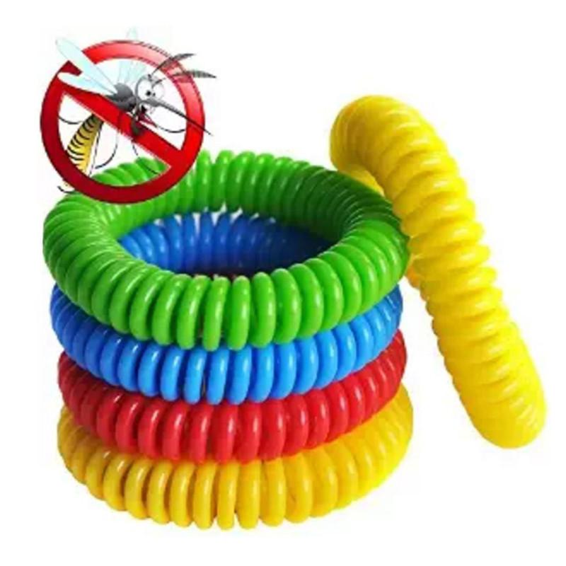 Браслет-спираль репеллент 6 цветов.