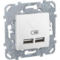 Розетка USB 2,1A Белый Unica Schneider, MGU5.418.18ZD