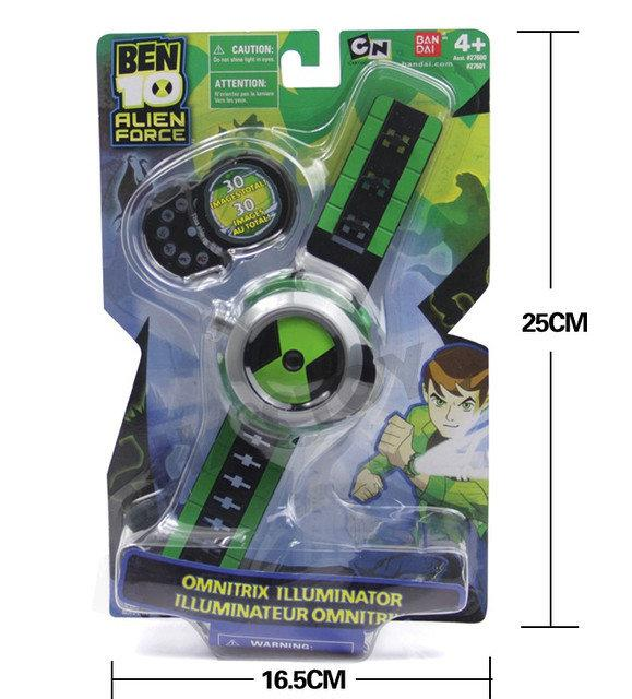 Проекционные часы Бен Тен Омнитрикс со звуком и светом - Ben10, Omnitrix, Illuminator, Bandai