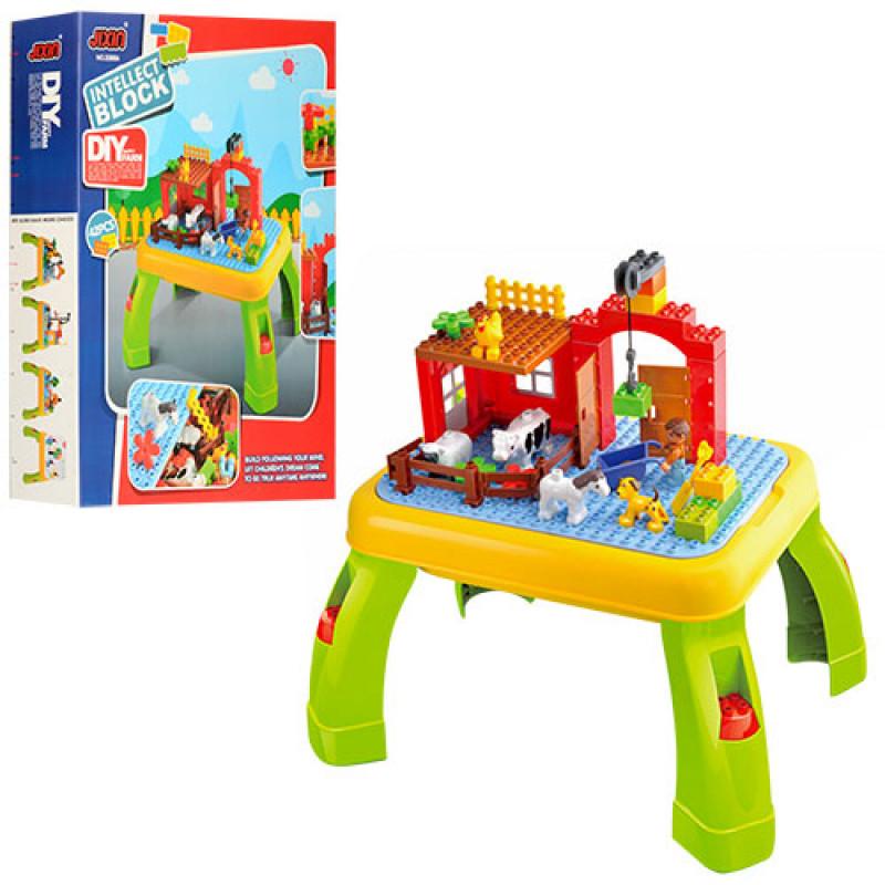 Конструктор для малышей с игровым столиком Ферма, 42 детали, 3588A