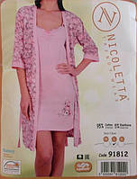 Комплект женские пижама халат и сорочка Турция