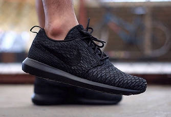 Кроссовки Nike Roshe Run Flyknit Midnight Fog (топ реплика)