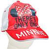 Кепка Минни Маус (Minnie) летний головной убор для девочек (размер 54-56) ТМ ARDITEX WD12041 красный