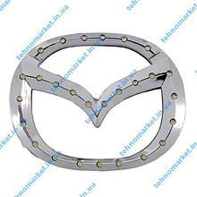 Логотип автомобиля Mazda шильдик с подсветкой, авто эмблема